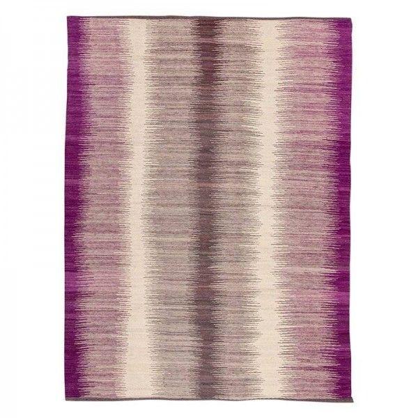 Contemporary Kilim. Purple and Gray...
