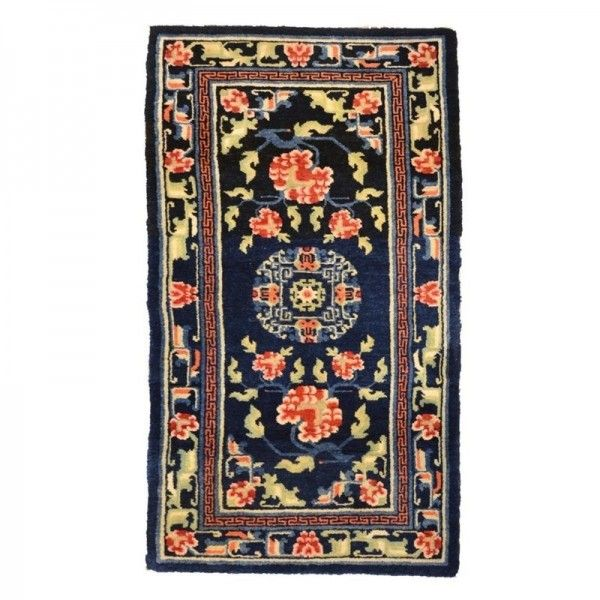 Chinese Rug. Flower Design and...