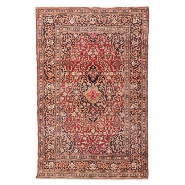 Persian Wool Rug. Keshan with Flowers...