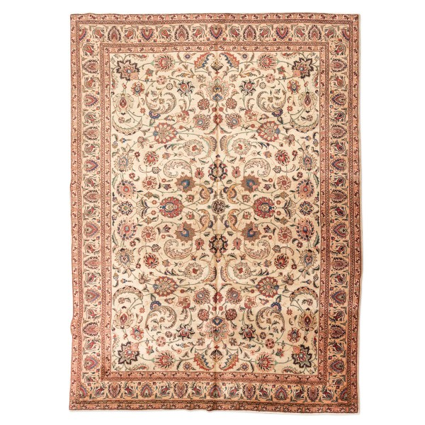 Persian Wool Rug with Classic Tabriz...